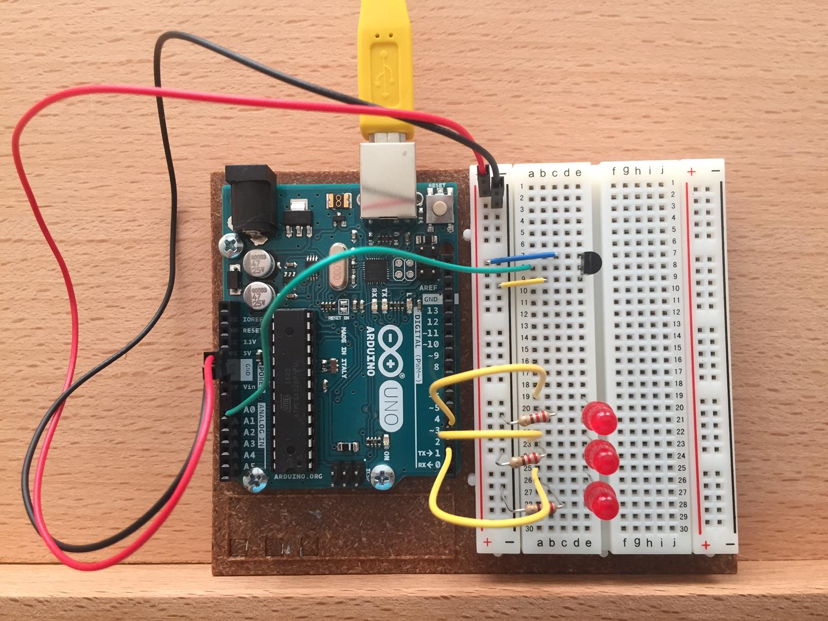 Temperature Sensing With Arduino Caffeinspiration Circuit Diagram You Can See The Sensor